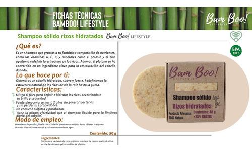 shampoo solido rizos hidratados bam boo! lifestyle® 50 gr