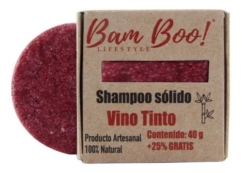shampoo solido vino tinto bam boo! lifestyle® 50 gr