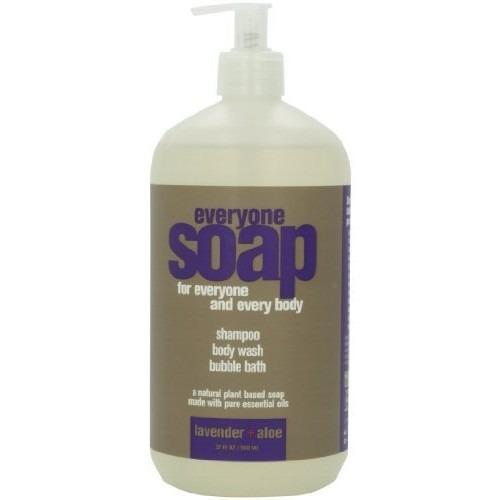 shampoo todo el mundo 3-en-1 jabón, lavanda, más aloe, de 3