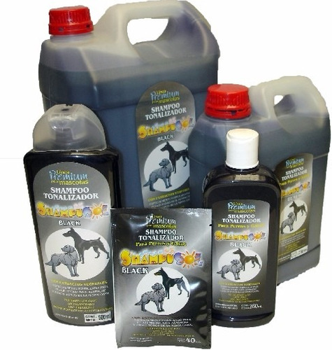 shampoo tonalizador shampusol black 5 litros perros gatos