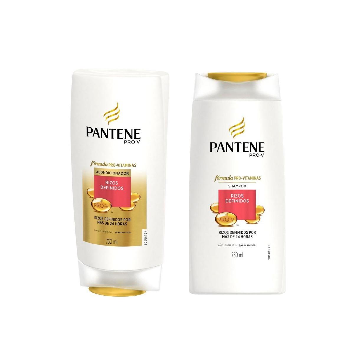 Shampoo Y Acond Pantene Pro V Rizos Definidos 750 Ml Pack X3