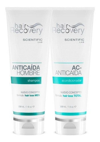 shampoo y acondicionador anticaída hombre de hair recovery