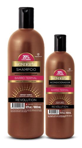 shampoo y acondicionador wonder tex revolution barro