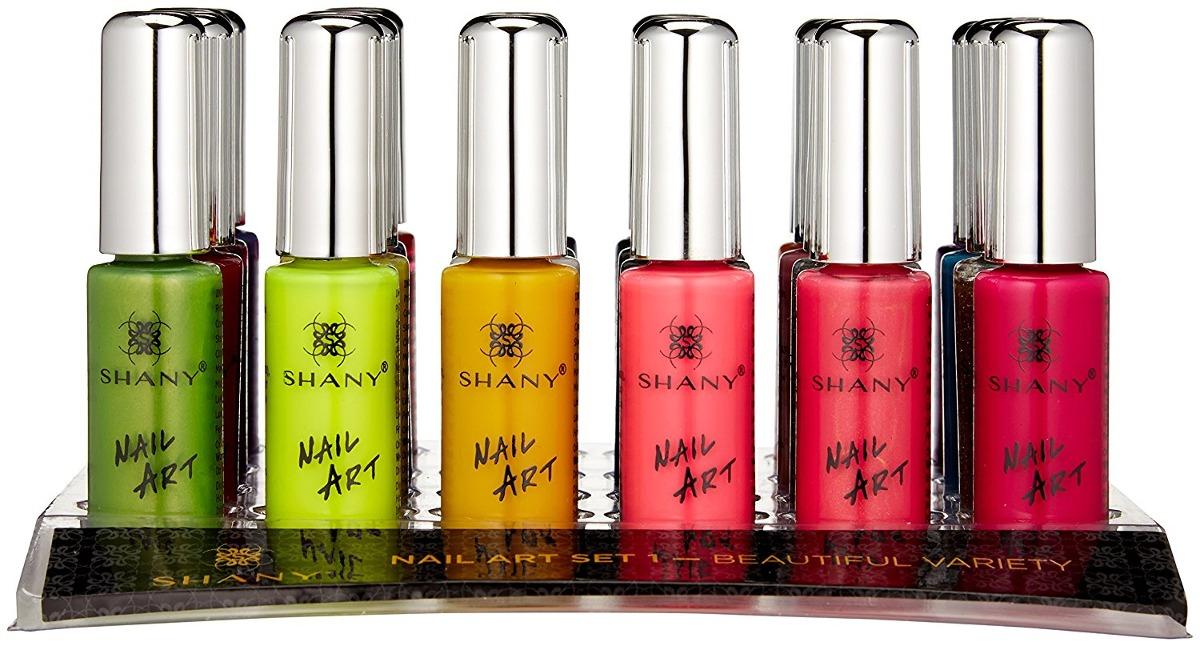 Shany Nail Art Set (24 Famosos Clavo De Los Colores Del Pola ...