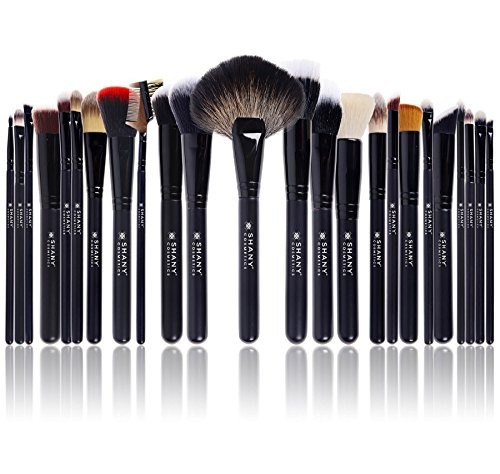 shany pro signature brush set 24 pieces handmade natural/syn