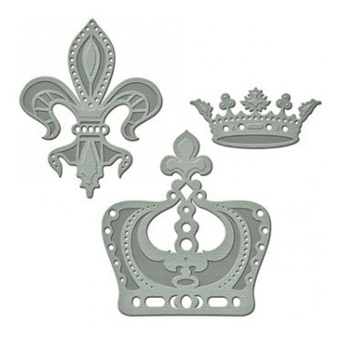 shapeabilities a gilded life crown jewels etched dies