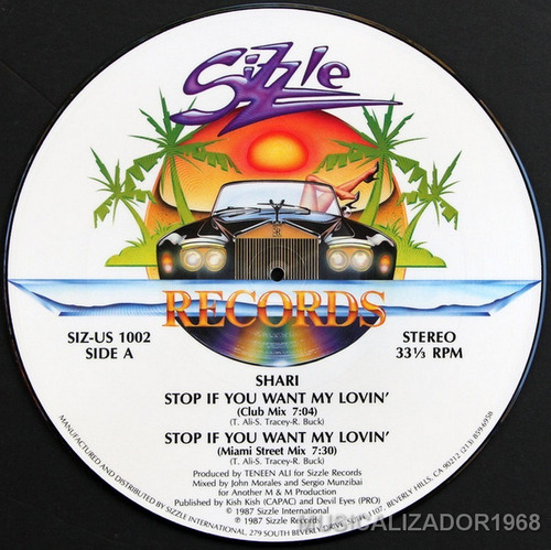 shari - stop if you want my lovin' vinilo picture disc