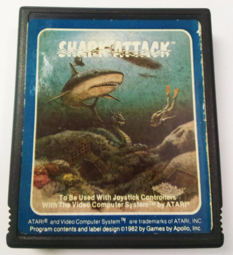 shark attack atari 2600 cartucho retromex tcvg