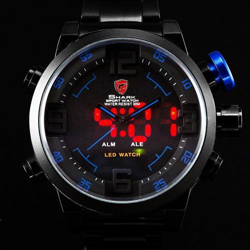 shark masculino relógio