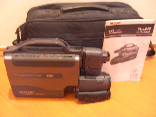 sharp  cancorder vhs  slim cam