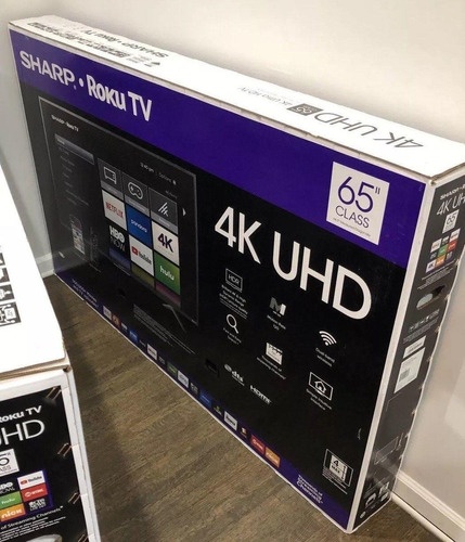 sharp roku tv uhd smart tv 65  pulgadas