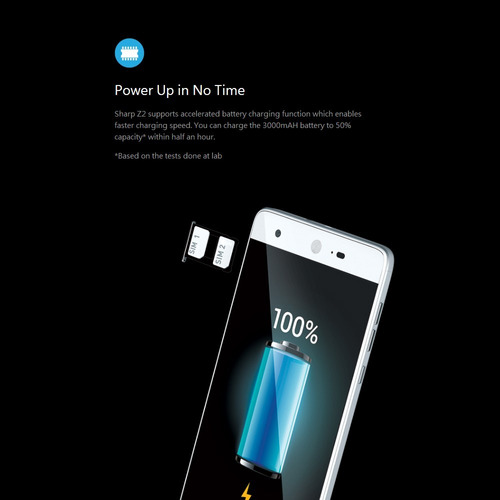 sharp z2 4g smartphone 5.5 pulgadas 4gb ram 32gb rom