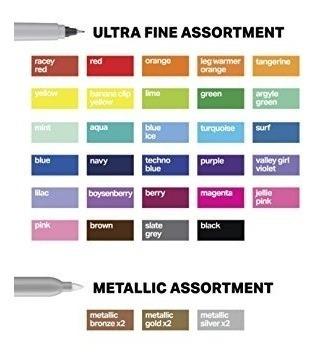 sharpie marcador permanente puntas fina ultra fina neon 72pz