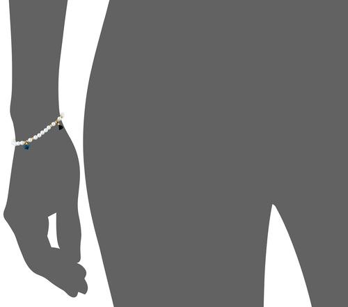 shashi collar de cristal lilu blanco con estiramiento de per