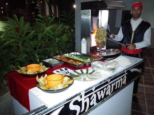 shawarma, atendemos a partir de 20 shawarmas