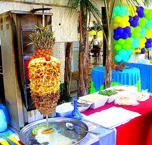 shawarma para eventos, reuniones y fiestas (estacion)