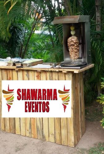 shawarma, perros calientes, hamburguesas, pasapalos, sifon