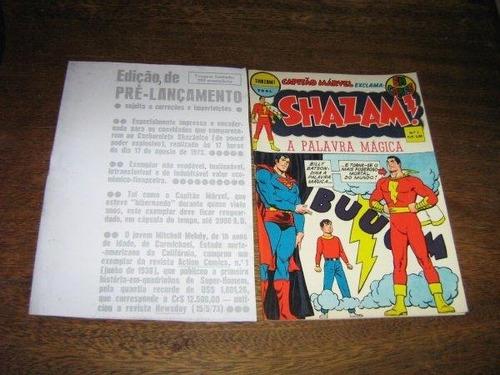 shazam  n º 1 out  1973 edição de pre lançamento  ebal raro