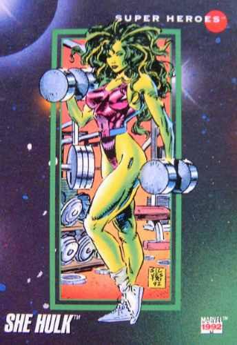 she hulk / marvel 92 comics cards 16