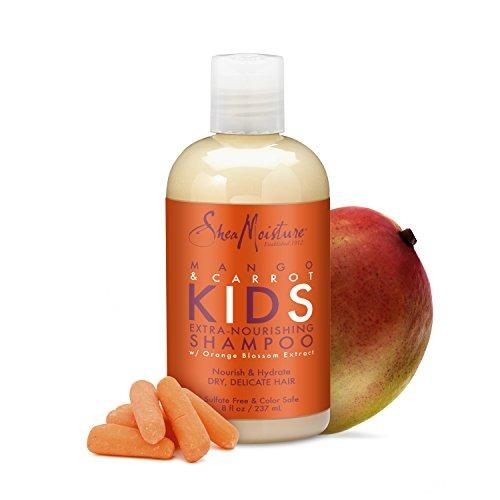 sheamoisture mango - zanahoria kids, champú extra nutritivo,