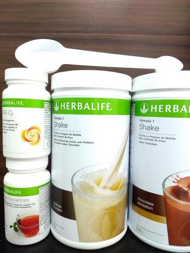 sheike herbalife 3+chá verde+nrg + nutrev +ânimo+disposição