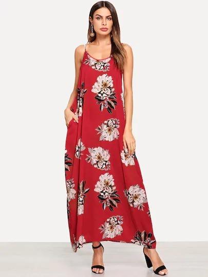 683b064e0 Shein Moda Asiatica Maxi Vestido Flores Casual Playa -   369.98 en ...