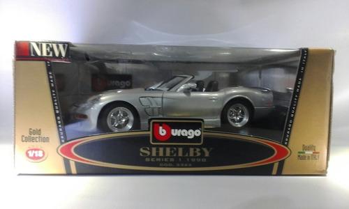 shelby 1998 marca burago gold  escala 1:18