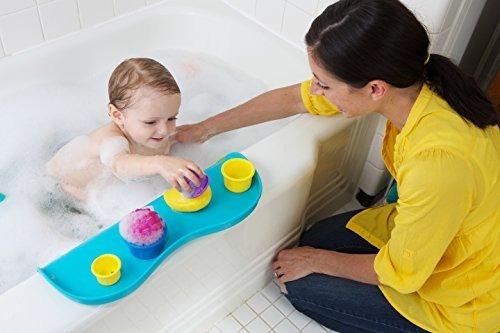 shelfie bath toy organizer - estante de baño, aqua blue