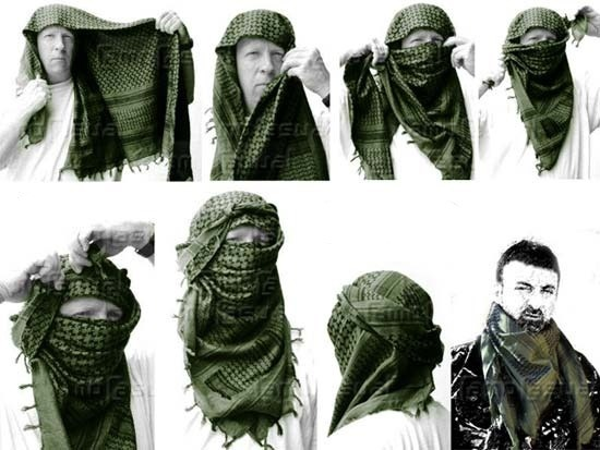 Shemagh Bufanda Arabe Turbante Militar Original Envio