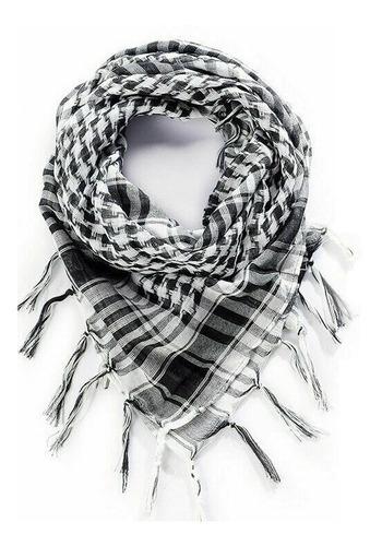 shemagh lenço árabe tático airsoft moto passeio, branco cinz