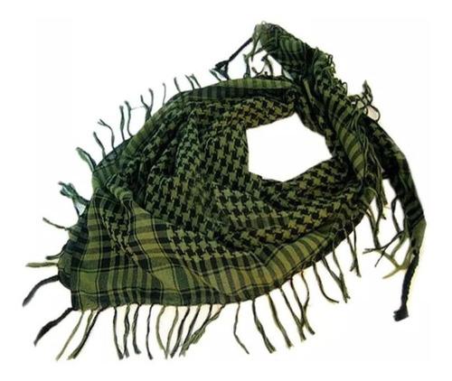 shemagh lenço arabe tático airsoft moto passeio, cor verde,