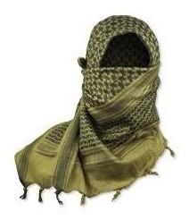 shemagh militar - verde - negro - coyote 100% algodon