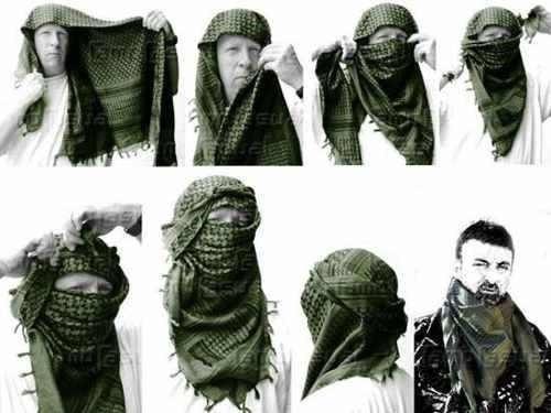 shemagh pashmina burka bufanda tactica militar airsof gotcha