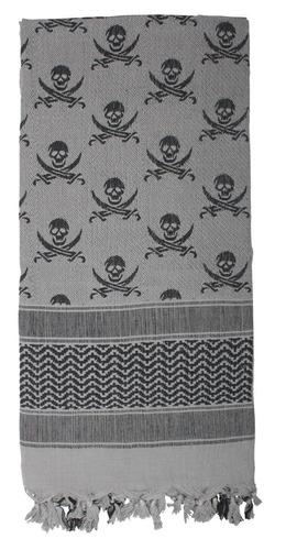 shemagh rothco con calaberas impresas skull gris negro