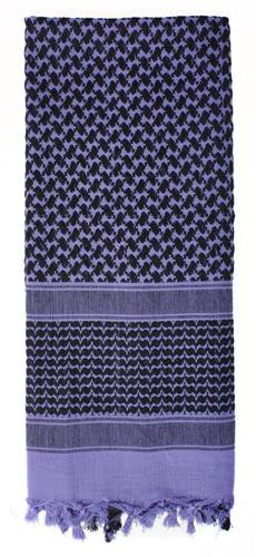 shemagh rothco scarf morado con negro
