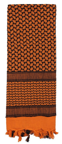 shemagh rothco scarf naranja con negro