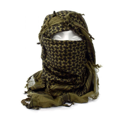 shemagh rothco scarf verde con blanco