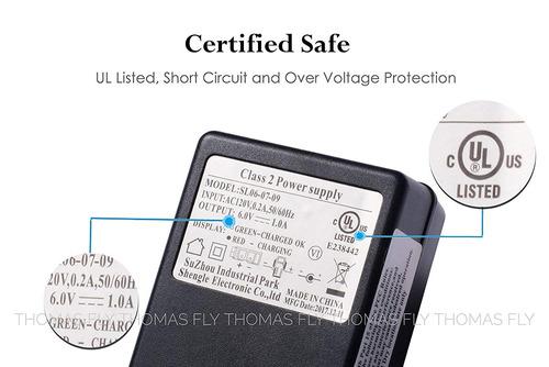 shengle cargador de batería de 6 voltios cargador de 6v k...