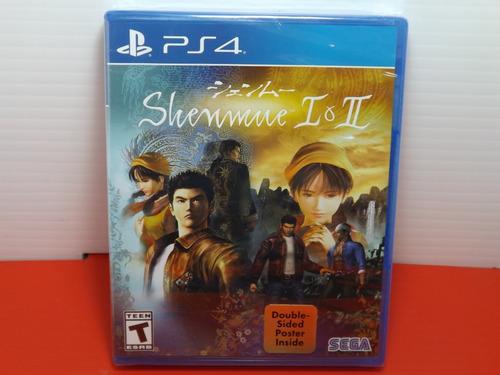 shenmue 1 & 2 playstation 4 ps4 fisico nuevo y sellado