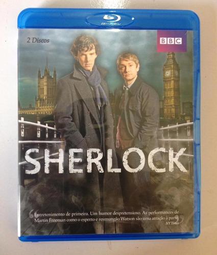sherlock primeira temporada blu ray duplo - cumberbatch