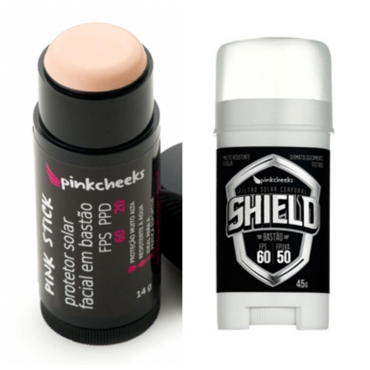 71384a979 Shield E Pink Stick Filtro Solar Em Bastão Pink Cheeks - R  189