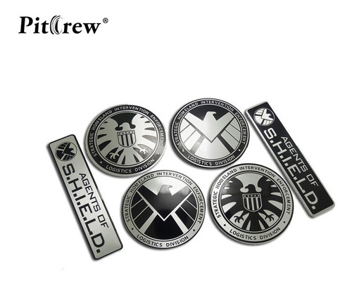shield - emblema metal - black hawk