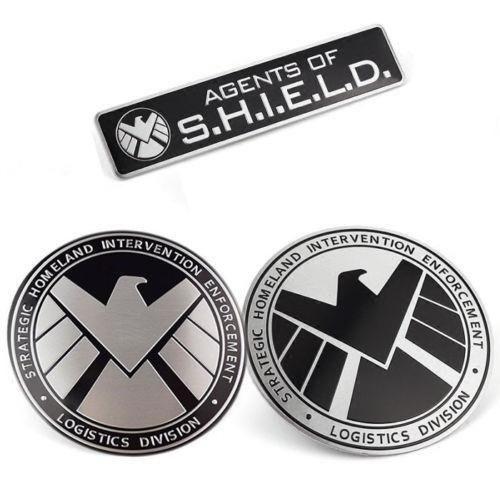 shield - emblema metal - silver hawk