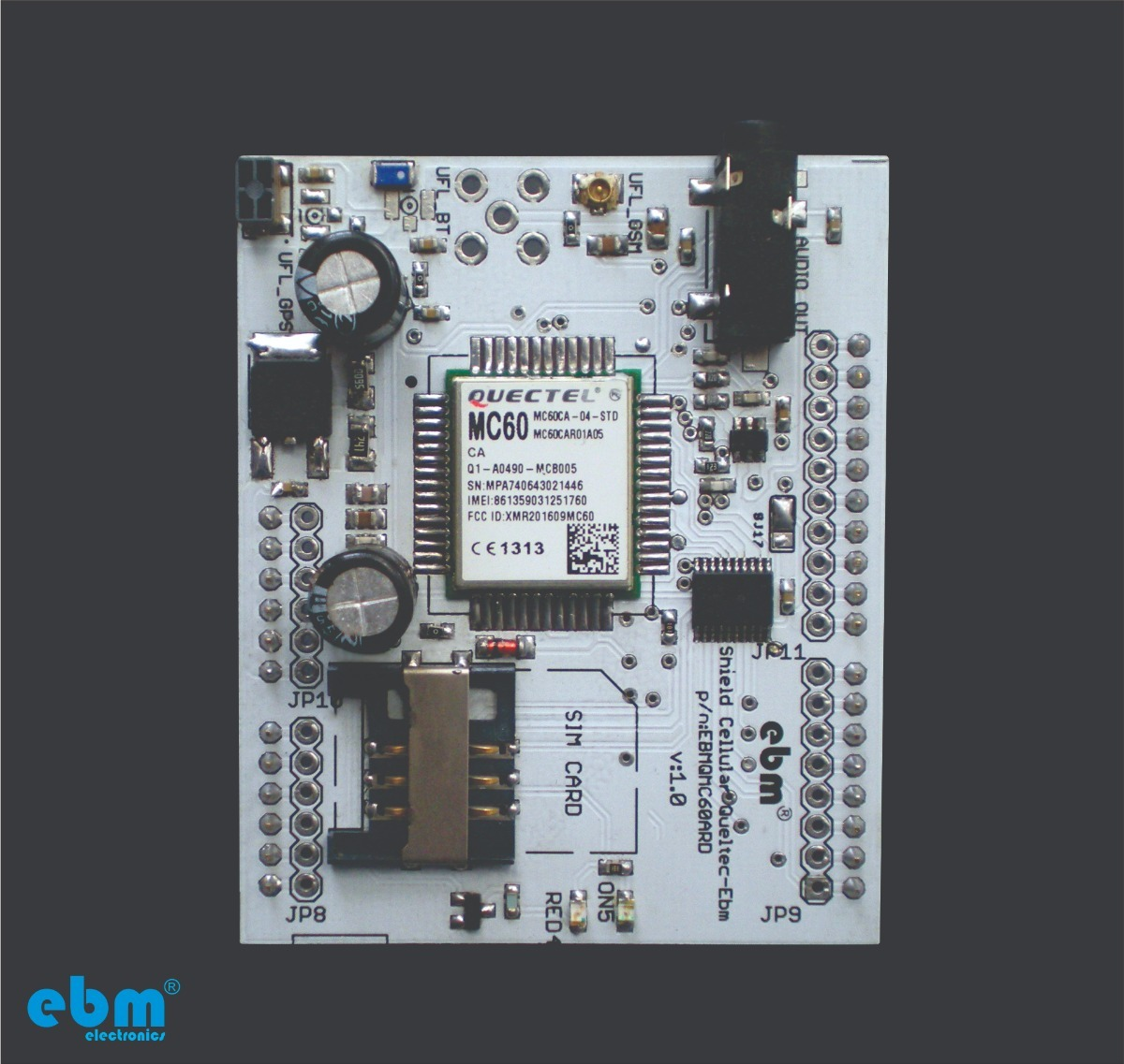 Shield Gprs Gsm Arduino Mc60 - Quectel