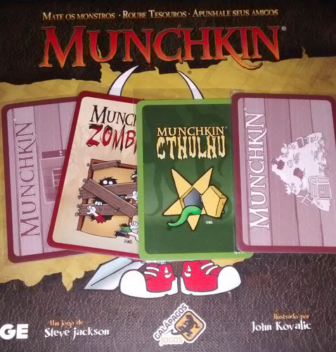shield sleeves munchkin 1.000 unids + manual epico e torneio