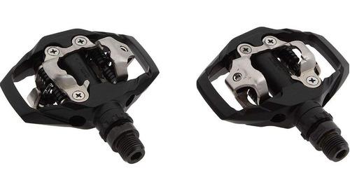 shimano m-530 enduro spd pedales, unisex adulto, negro,