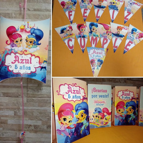 Shimmer And Shine Bolsita Cumple Stickers Libritos Piñata - bolsitas golosineros roblox cumplea#U00f1os robux scp brawl star