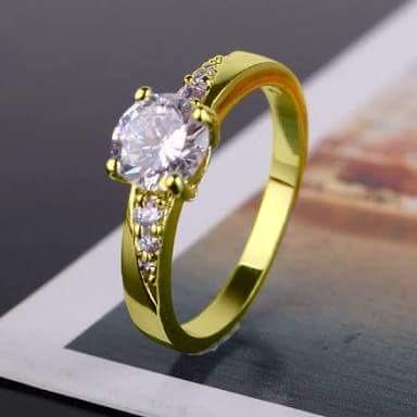 6399a8cf96b3 Shine Anillo Compromiso Oro Amarillo 18k Diamante .30 Cts ...