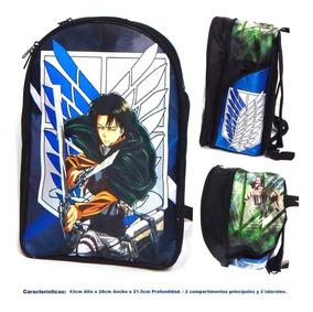 Shingeki No Kyojin Mochila Backpack Levi Ackerman Escudo