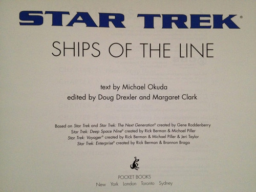 ships of the line , star trek